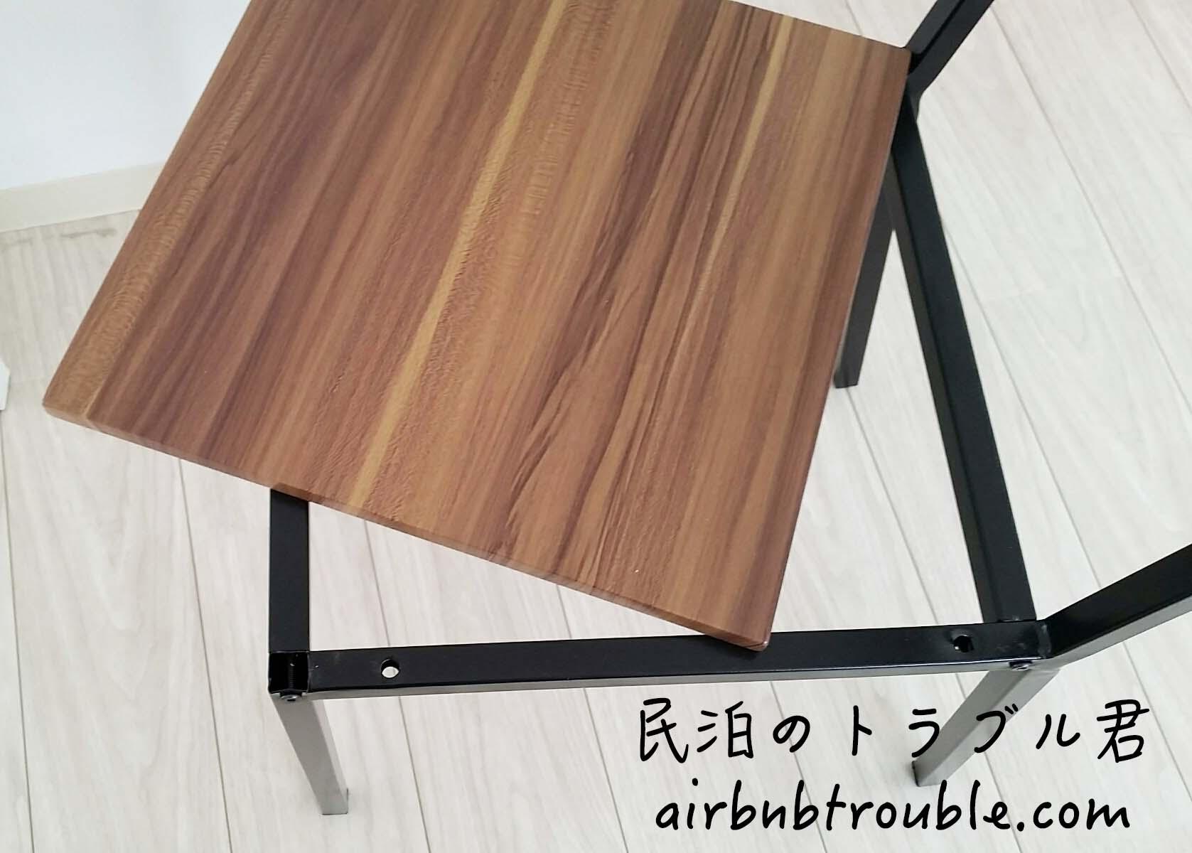 【故障】食卓椅子の座る部分ネジ外されネジも紛失。