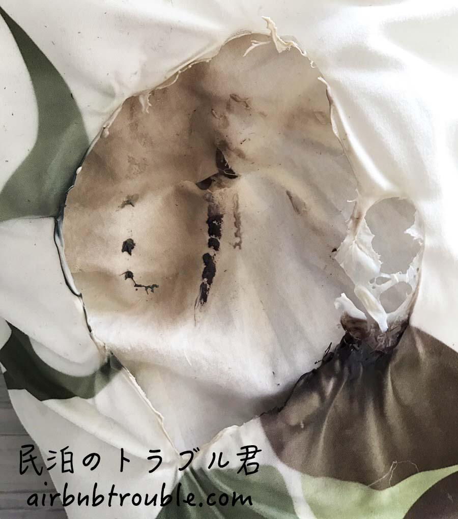 #78【破損】ストーブの熱で布団を溶かされちゃいました。