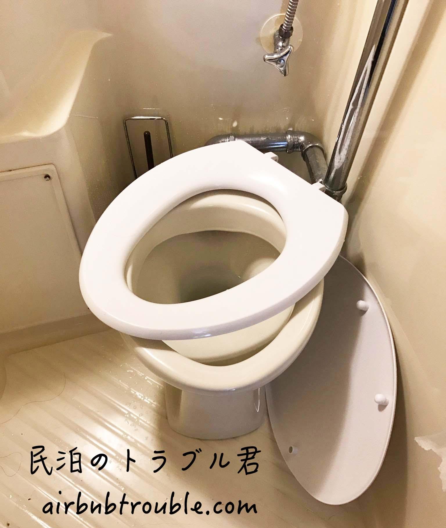 【破損】トイレの便座とカバーを取られました。